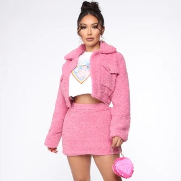 Fashion Nova Sherpa/ Teddy Set